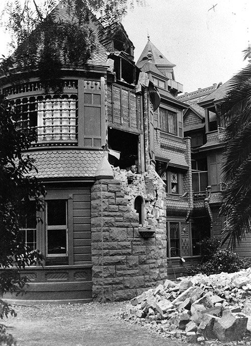 Earthquake Damage of the Winchester Mystery House