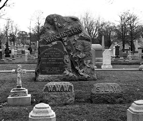 The Winchester Family Tombstone at Evergreen Cemetery