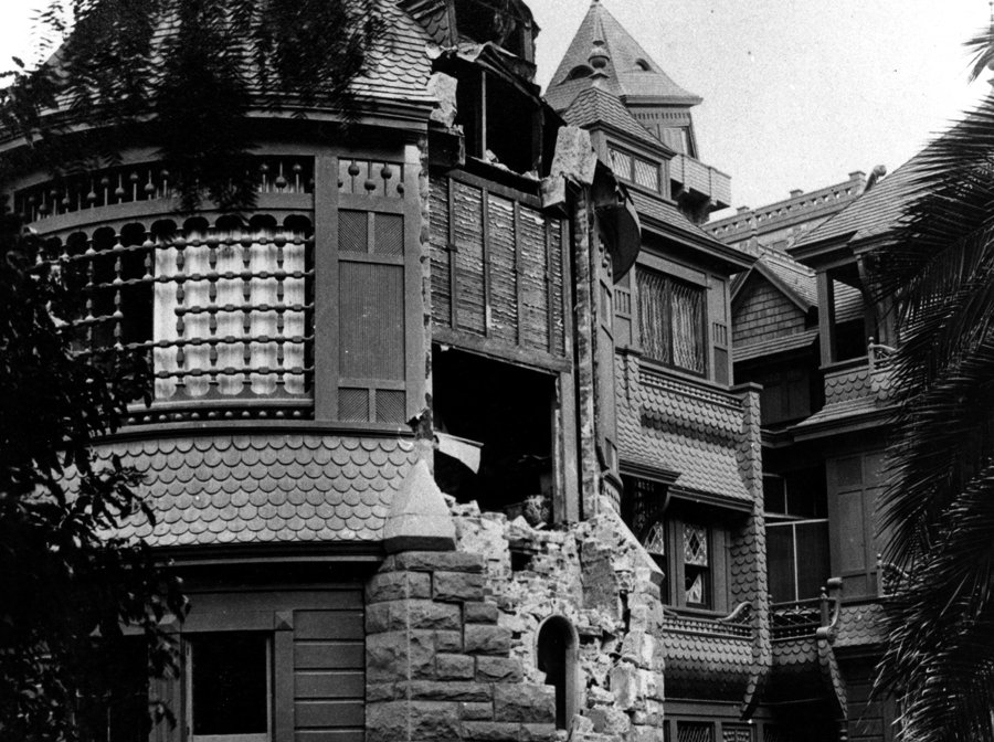 earthquake damage at the winchester mystery house